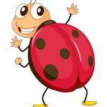 illustration of a comical ladybird