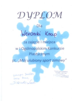 1 miejsceWeronika Knap